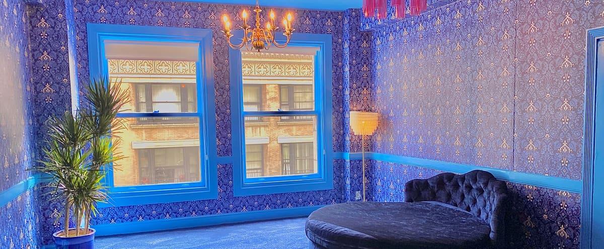 Downtown 70's Blue RETRO room in Los Angeles Hero Image in Central LA, Los Angeles, CA