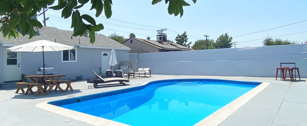 NoHo Pool House, Huge Patio + Pool in North Hollywood Hero Image in Sun Valley, North Hollywood, CA