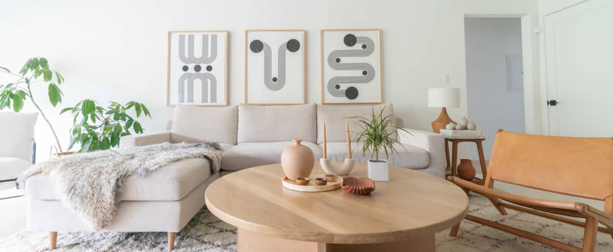 Mid Century x Scandinavian x Boho Home x Bright x Light in Los Angeles Hero Image in Palms, Los Angeles, CA