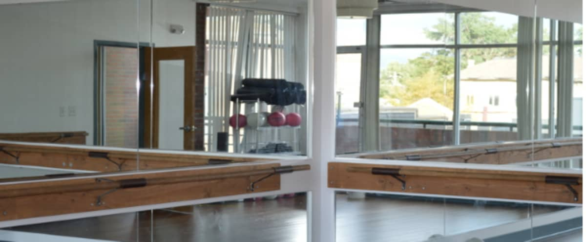 Spacious Downtown Denver Event & Yoga Studio With Amazing Natural Light in Denver Hero Image in Five Points, Denver, CO