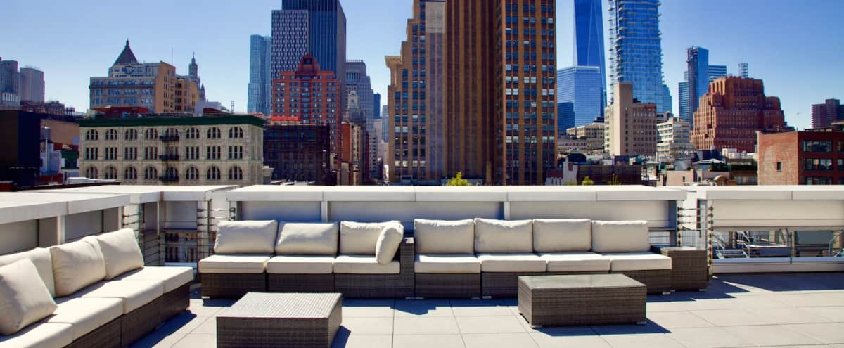 Picturesque Rooftop and Penthouse with 360° views of Manhattan Skyline in New York Hero Image in SoHo, New York, NY