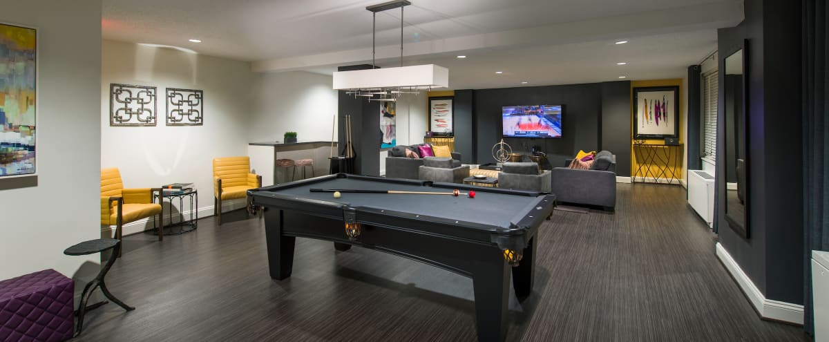 Light and Trendy Club Room in Arlington in Arlington Hero Image in Barcroft, Arlington, VA