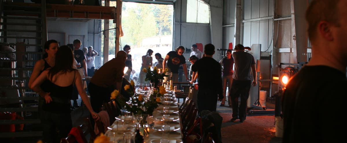 Private Spacious Glassblowing Studio for Corporate Events & Experiences! in Portland Hero Image in St. Johns, Portland, OR