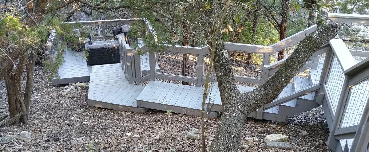 Decks in the Barton Creek greenbelt in Austin Hero Image in The Hills Of Lost Creek, Austin, TX
