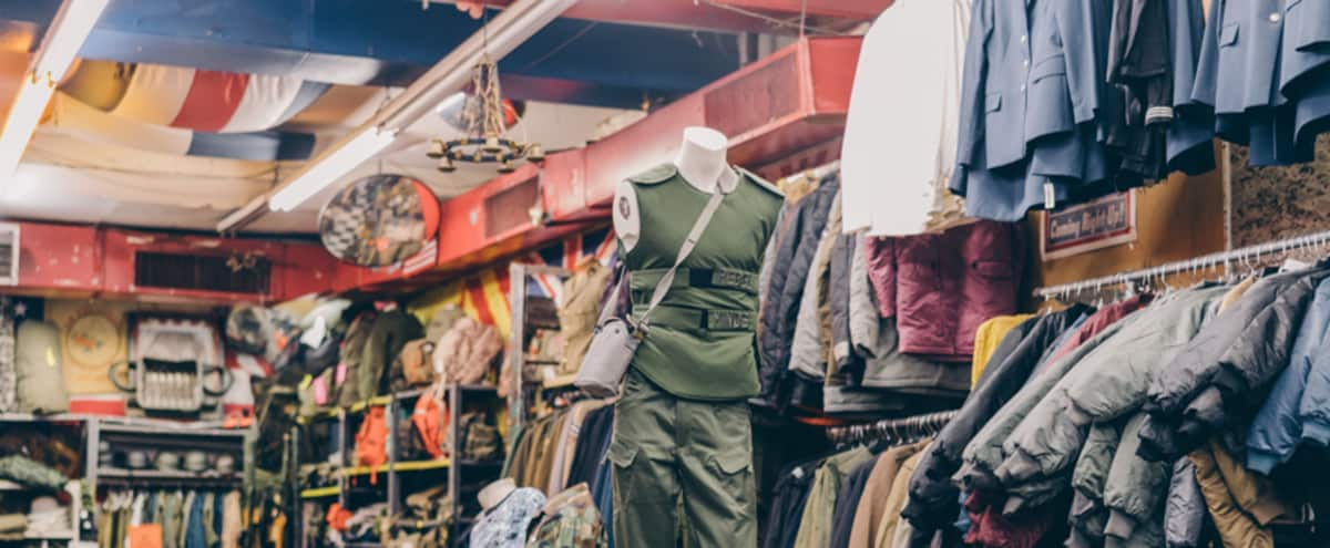 Well Known Army Surplus / Vintage Fashion - Retail Space in New York Hero Image in Lower Manhattan, New York, NY