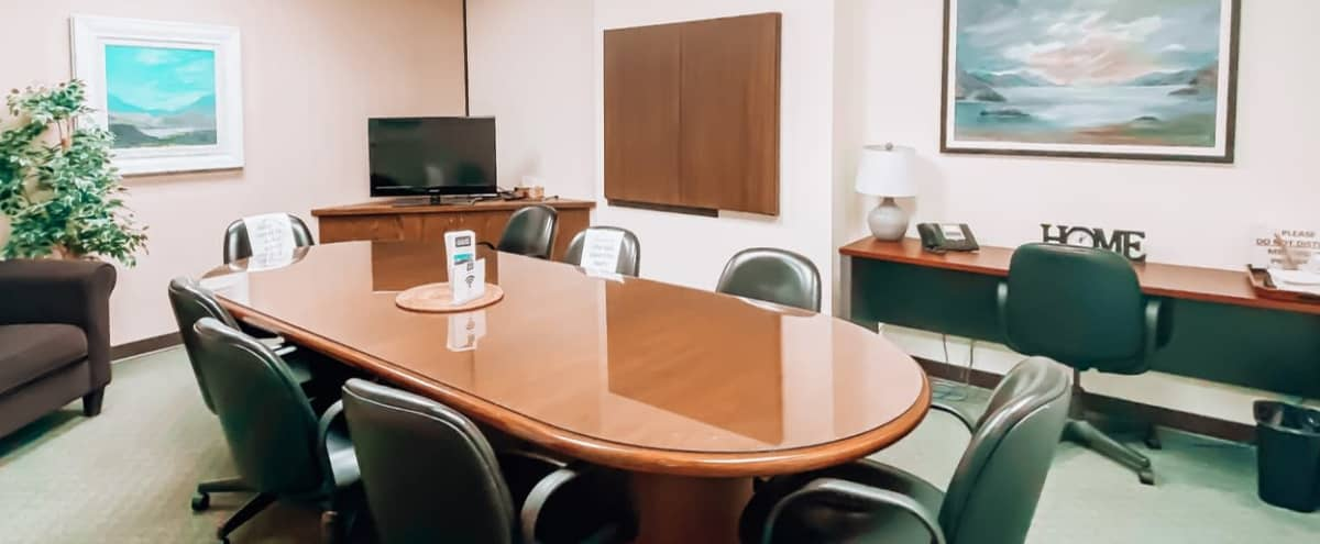 Fully Equipped 6-10 Person Boardroom in Vancouver Hero Image in East Vancouver, Vancouver, BC