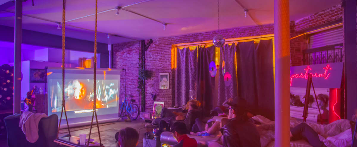 Stylish Designer Art Space with Brick Walls, Projectors and Custom Set ups to Celebrate in Los Angeles Hero Image in South Los Angeles, Los Angeles, CA