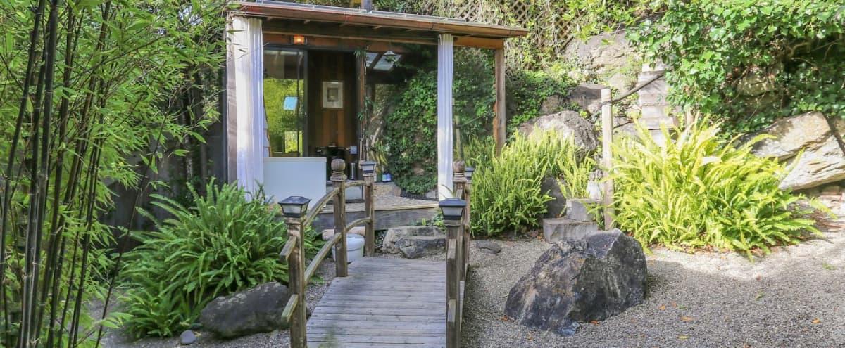 Japanese Tea Garden and Outdoor Bathtub in Stinson Beach Hero Image in undefined, Stinson Beach, CA