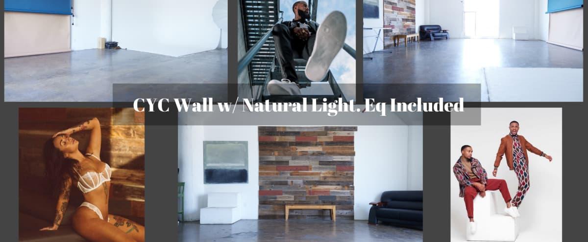 Natural Light Loft Studio w/ Cyc and EQ (Studio C) in Los Angeles Hero Image in Central LA, Los Angeles, CA