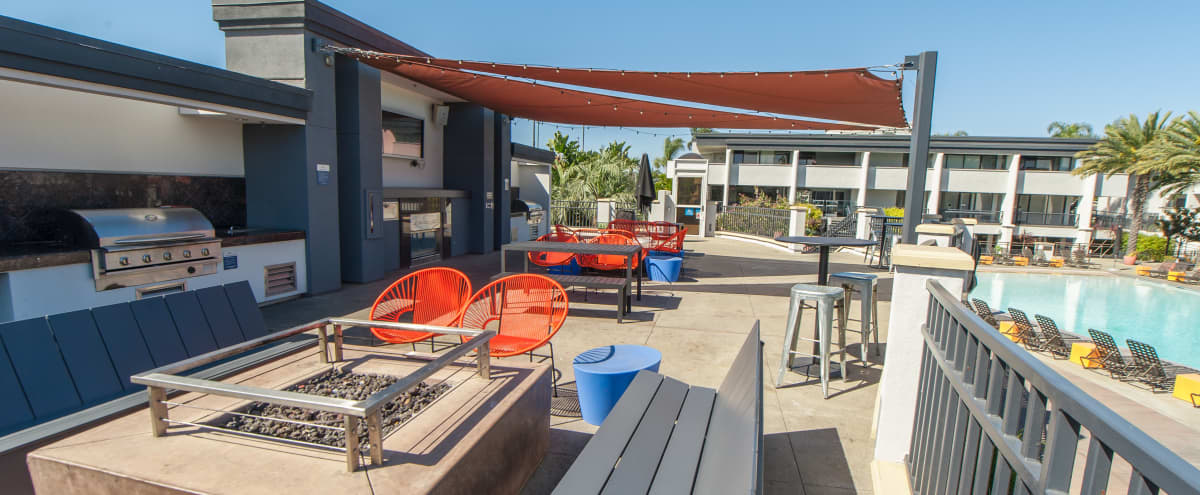 Modern Outdoor Fire Side Lounge and Terrace in Newport Beach Hero Image in undefined, Newport Beach, CA