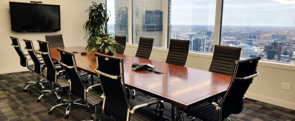 360 Degree City Views from this Impressive Boardroom Space in Chicago Hero Image in Chicago Loop, Chicago, IL