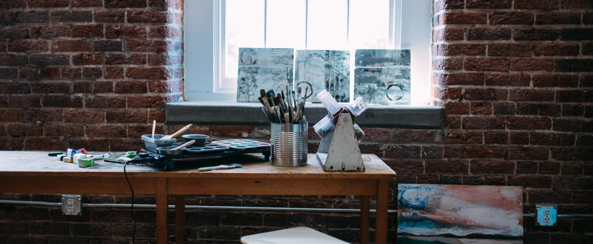 Artist studio in Renovated Warehouse Loft in nashville Hero Image in Germantown, nashville, TN