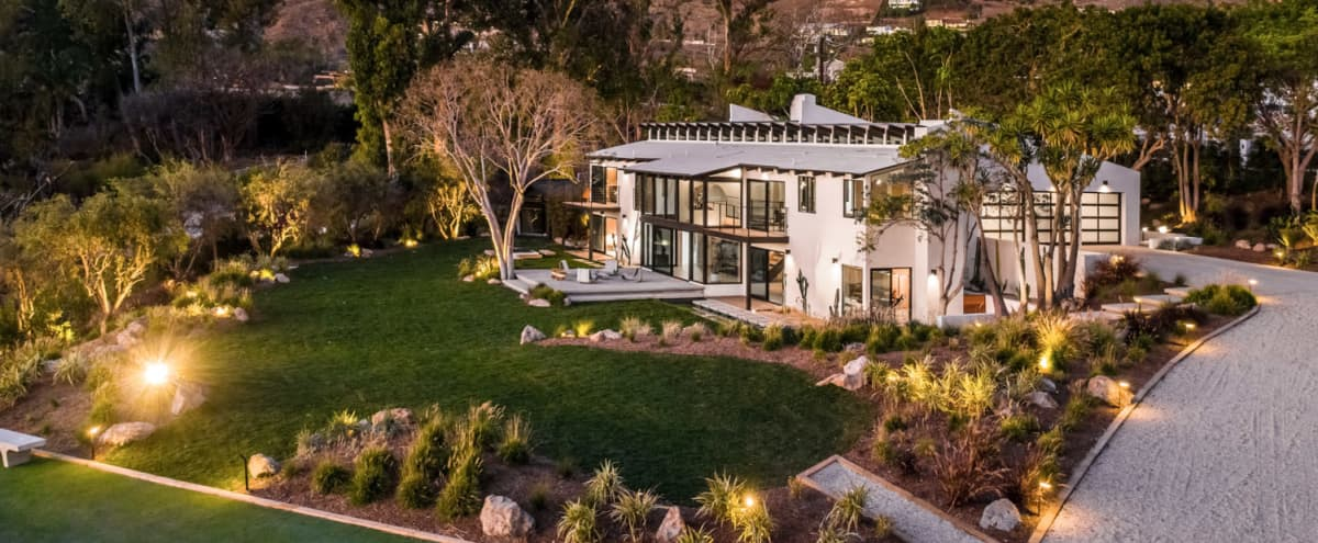 A Stunning Mid-century Modern Villa In Zuma Beach in malibu Hero Image in Western Malibu, malibu, CA