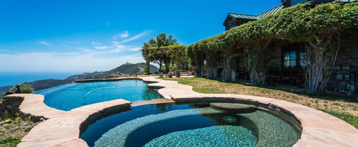 Mountain top lodge with infinity pool and incredible 360 degrees views in Topanga Hero Image in undefined, Topanga, CA