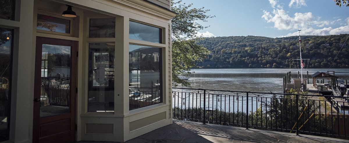 Riverside restaurant with large patio & view of West Point in Garrison Hero Image in Garrison, Garrison, NY