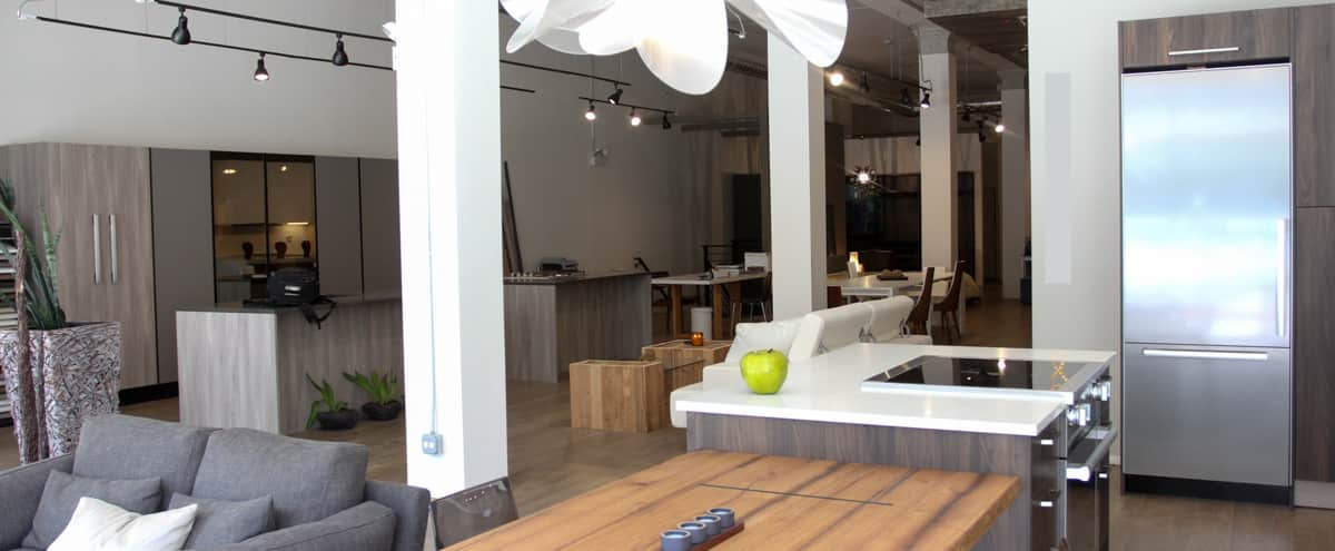 Furnished Street-level 3600 Sq Ft Event Space w/ High Ceilings & Working Kitchen in Chicago Hero Image in Lake View, Chicago, IL