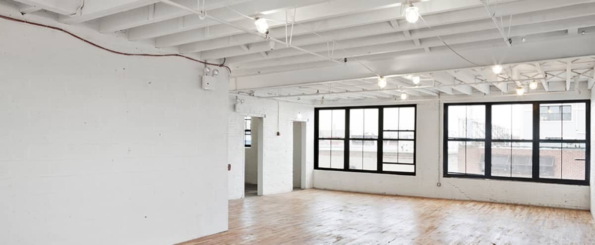 Ideal for Yoga classes and workshops , features natural lights, high ceilings and wooden floors located on the L in Bushwick in Ridgewood Hero Image in Ridgewood, Ridgewood, NY