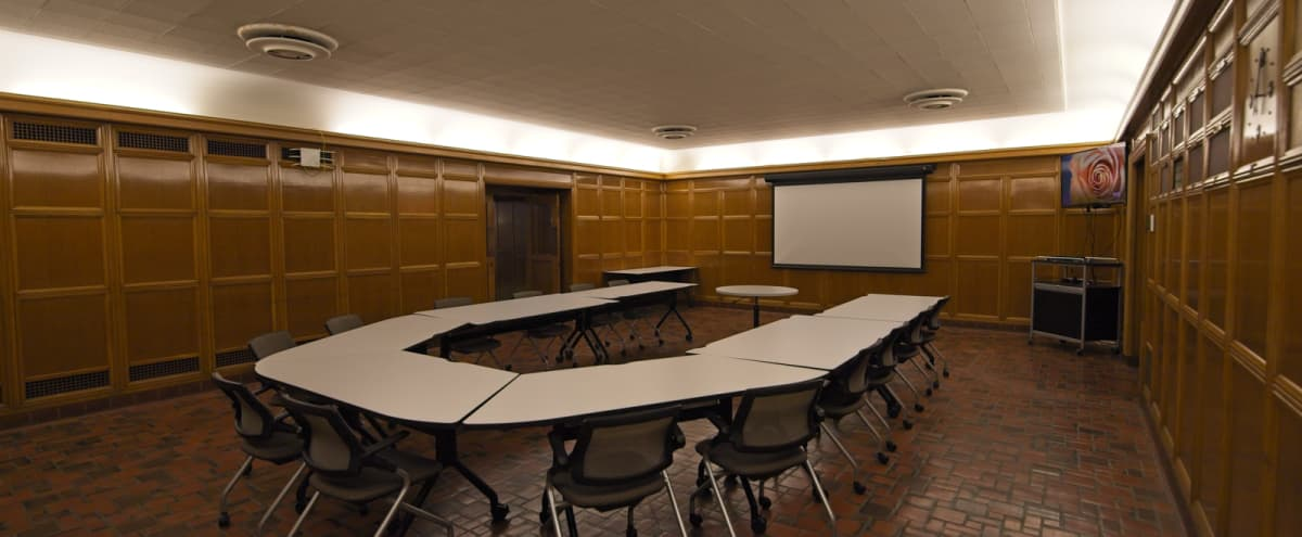 Wood-Paneled Classroom Style Meeting Space - Downtown MPLS in Minneapolis Hero Image in Downtown West, Minneapolis, MN