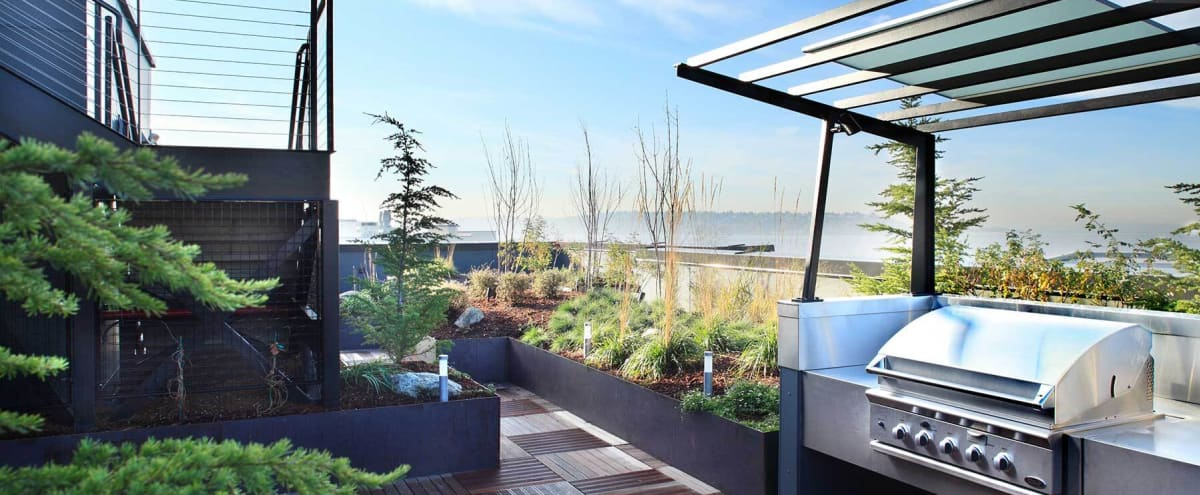 Amazing Lounge With Live Plants, Green House Ceiling and Rooftop Deck for Your Next Event! in Seattle Hero Image in Lower Queen Anne, Seattle, WA
