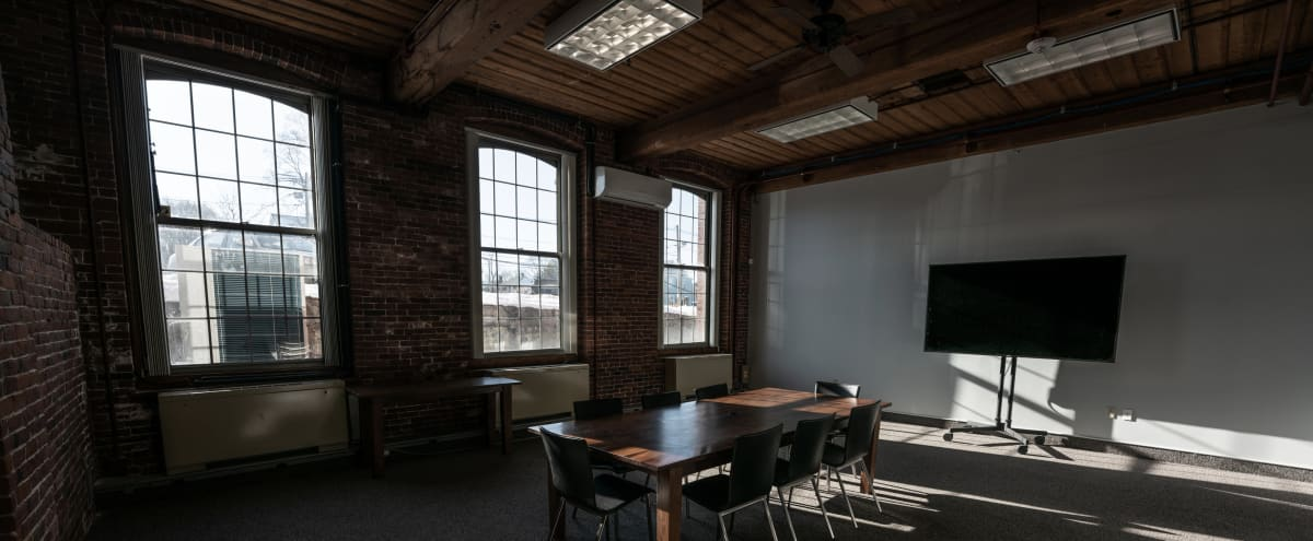 Great Flex Space in Historic Brick and Beam Mill Building in Newton Hero Image in Nonantum, Newton, MA