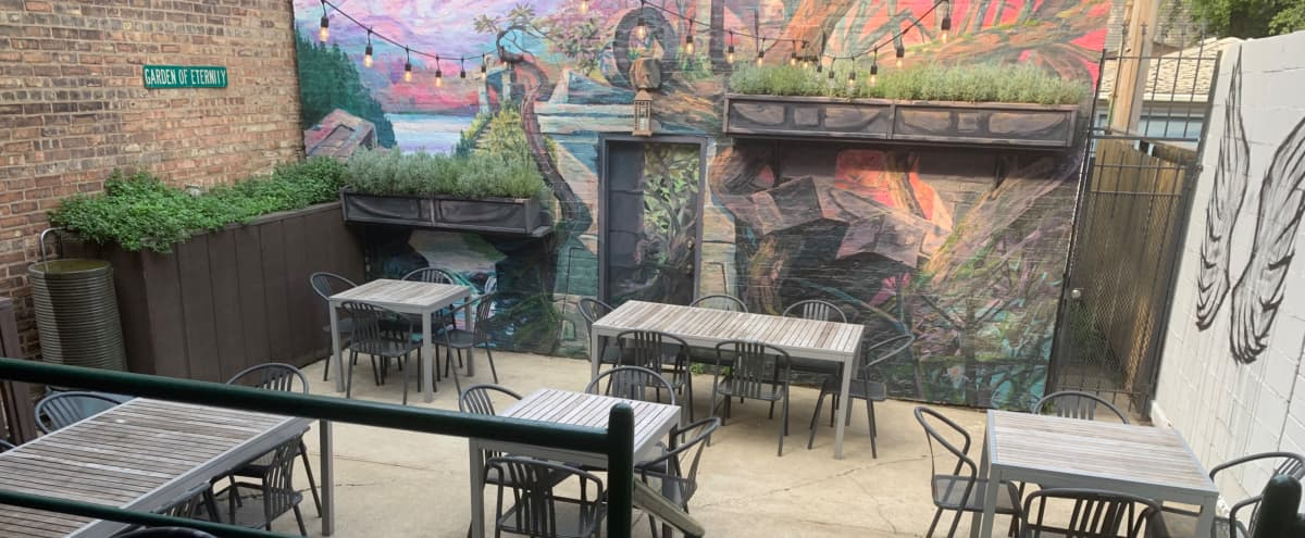"""The Garden of Eternity""- Lincoln Park Hidden Oasis Patio and Cafe in Chicago Hero Image in Lincoln Park, Chicago, IL"