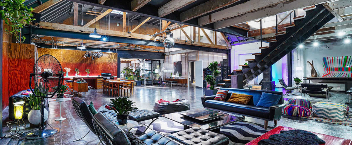 Large Spacious Downtown Warehouse Loft with Speakeasy Chic in Los Angeles Hero Image in Downtown, Los Angeles, CA