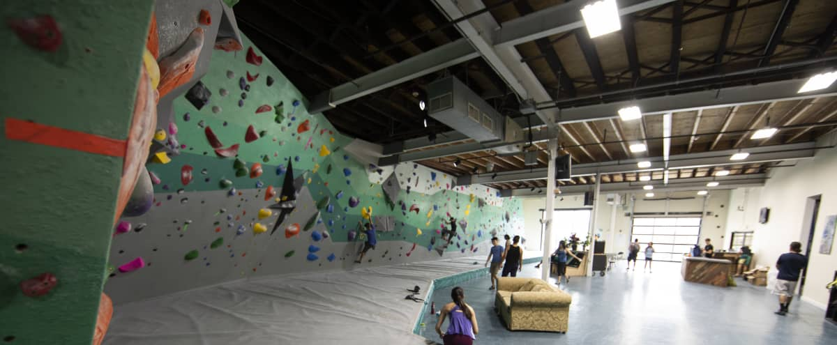Industrial and Chic Space With Tons of Open Space + Indoor Rock Climbing and Fitness Area in Philadelphia Hero Image in Ludlow, Philadelphia, PA