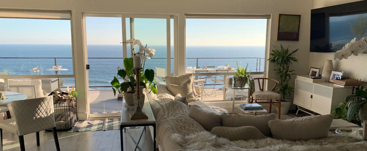 Stylish Townhome in Western Malibu with sweeping ocean views on a bluff across from the beach. in Malibu Hero Image in Western Malibu, Malibu, CA