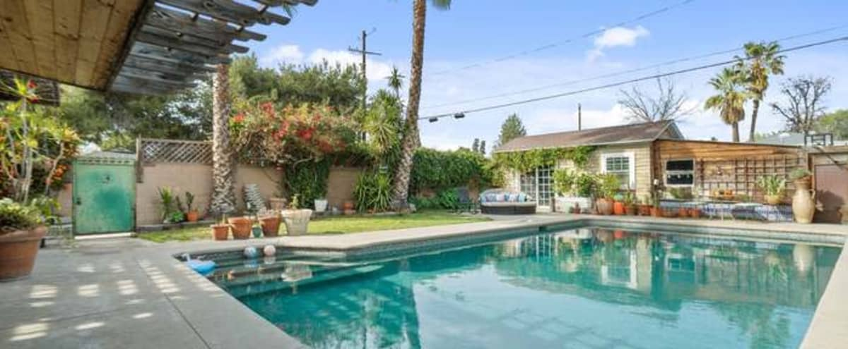 The Grand Califa! Quaint Oasis Home with Casita and Large Private Pool! in North Hollywood Hero Image in North Hollywood, North Hollywood, CA