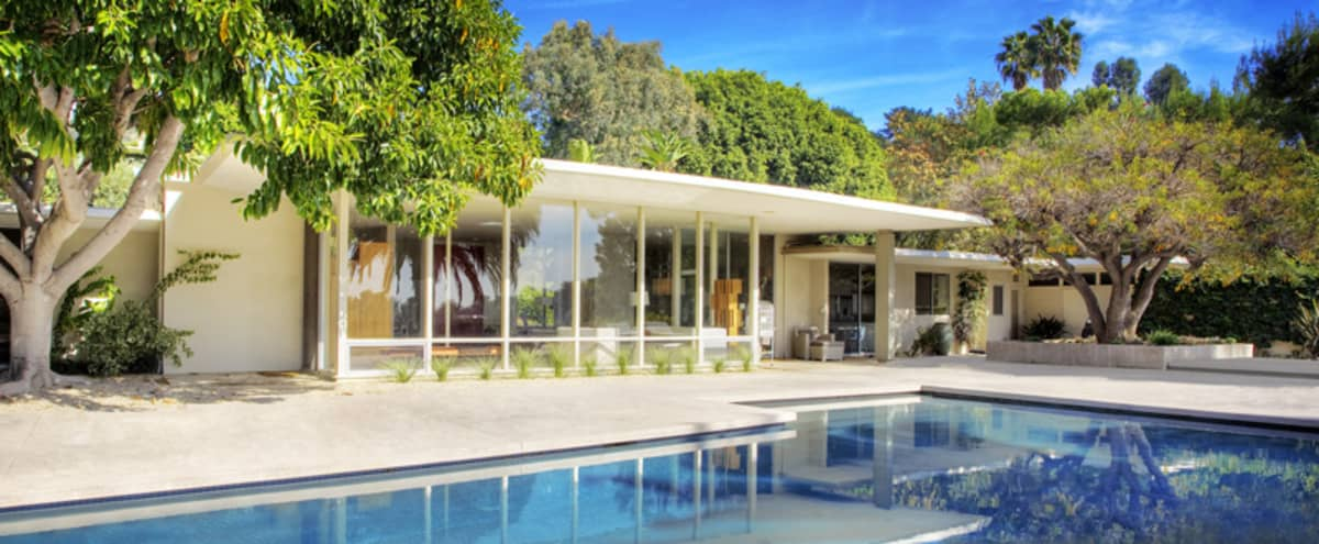 Large Mid Century Modern Home in Beverly Hills for Shoots and Events in Beverly Hills Hero Image in Trousdale Estates, Beverly Hills, CA