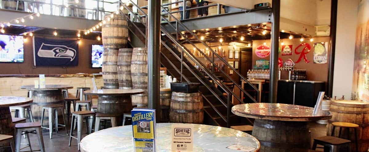 Downtown Seattle Craft Beer Taproom with Industrial Charm - Full Buyout in Seattle Hero Image in Downtown, Seattle, WA