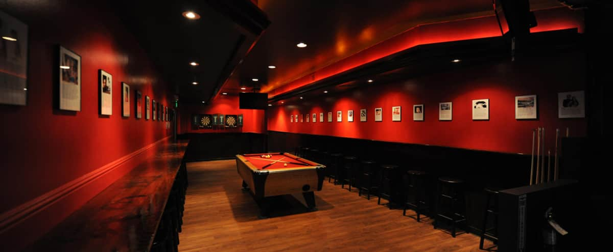 Semi-Private Event Space with Pool Table & Darts in San Francisco Hero Image in South of Market, San Francisco, CA