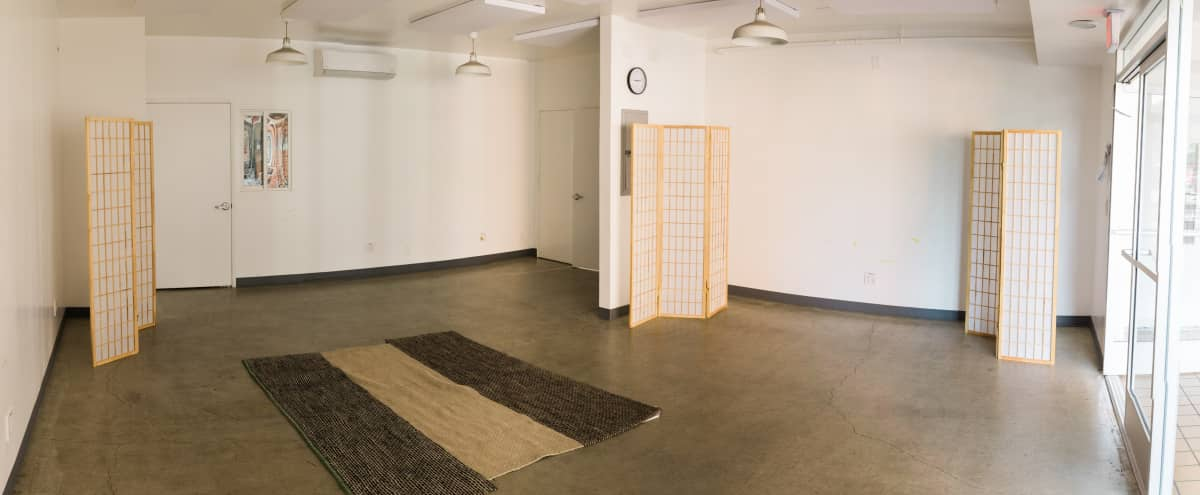 Natural Light Workshop Space for Meetings, Co-Working, Small Events in Los Angeles Hero Image in Central LA, Los Angeles, CA