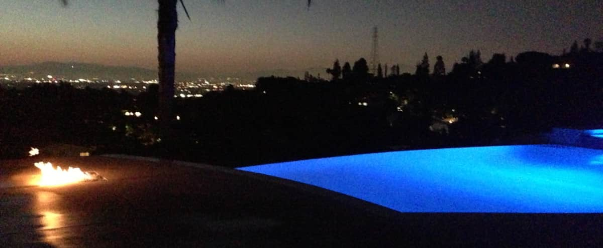 Traditional Modern with Infinity Pool and City Views in Studio City Hero Image in Studio City, Studio City, CA