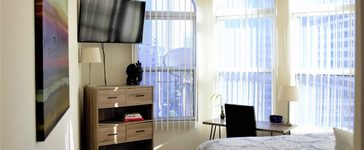 Luxury Downtown Apt. with Skyline view in Los Angeles Hero Image in Central LA, Los Angeles, CA
