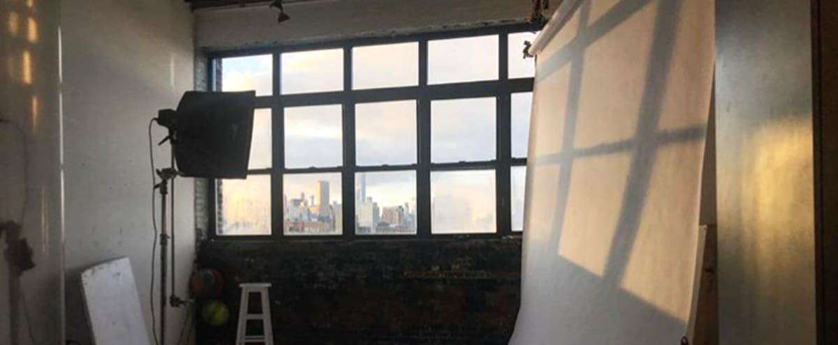 Spacious Art and Production Studio with Skyline View in Brooklyn Hero Image in Greenpoint, Brooklyn, NY