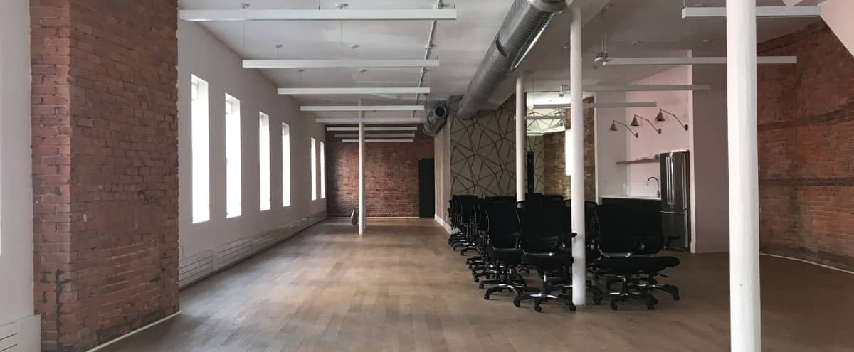 Canvas Production Space with Exposed Brick in Nolita in New York Hero Image in Lower Manhattan, New York, NY