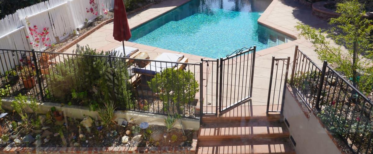 Tarzana Oasis w/ Pool, Basketball, Tennis court, Separate spa w/ waterfall, Pool Table in Tarzana Hero Image in Tarzana, Tarzana, CA
