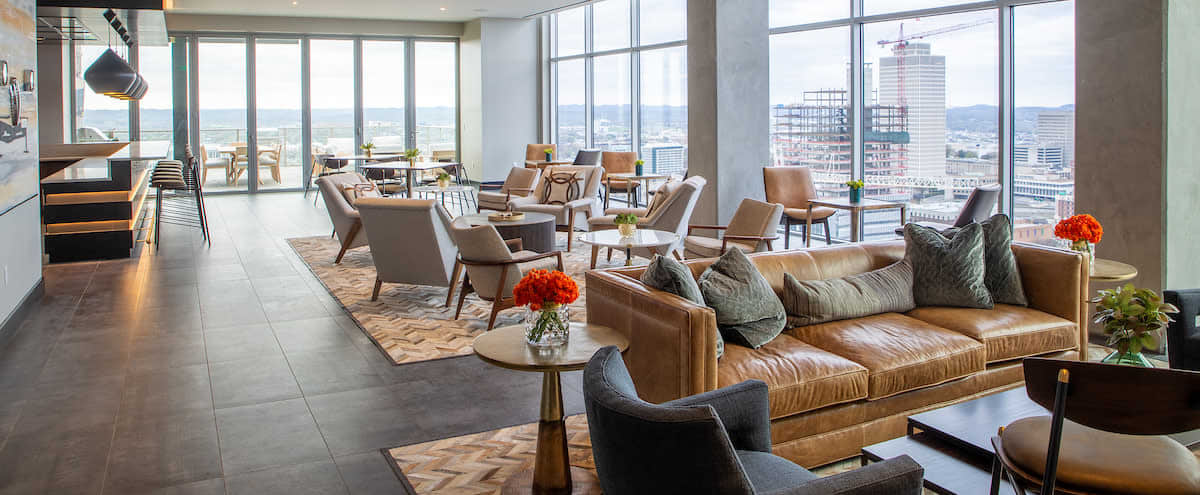 26th Floor Sky Lounge with Incredible Views in Nashville Hero Image in North Gulch, Nashville, TN