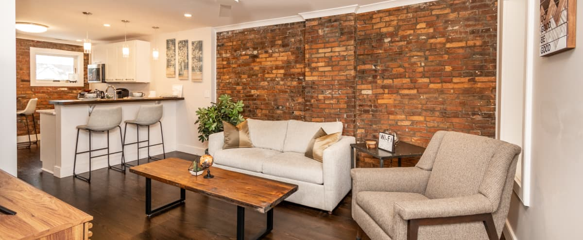 Beautiful Industrial Aesthetic Upper Apartment in Detroit Hero Image in Corktown, Detroit, MI