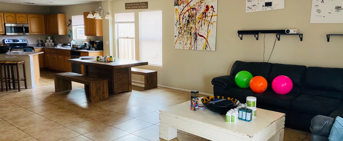 Bungalow Kitchen with Poolside Views in Phoenix Hero Image in Laveen Village, Phoenix, AZ