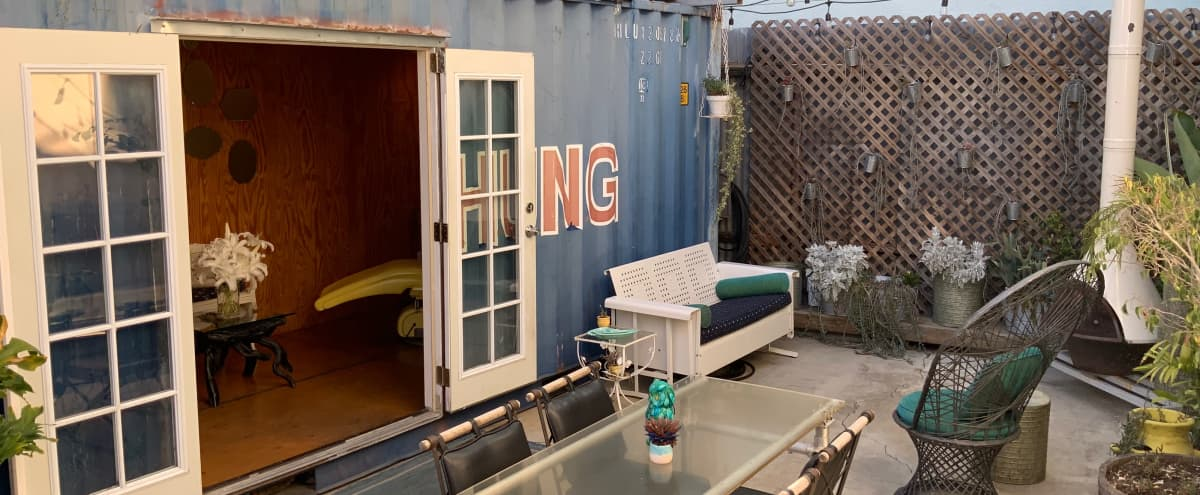 Industrial Container Meets Mid-century Kitsch Tattoo Suite Private Gardens in Maria Del Rey Hero Image in undefined, Maria Del Rey, CA