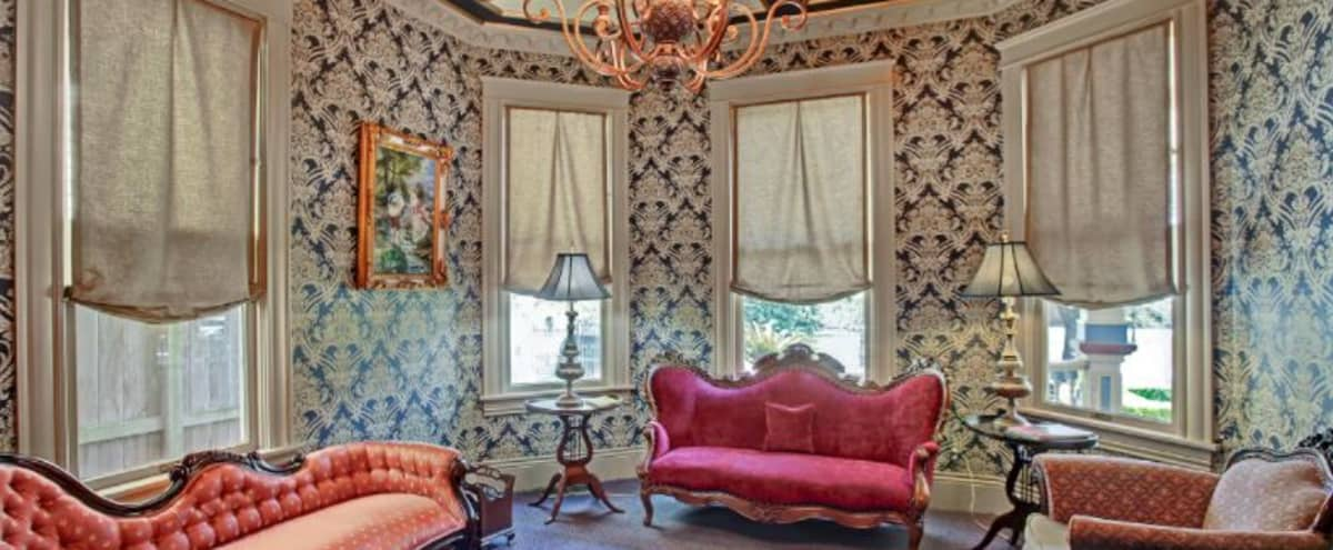 Victorian Parlor Room in The Heights in Houston Hero Image in Greater Heights, Houston, TX
