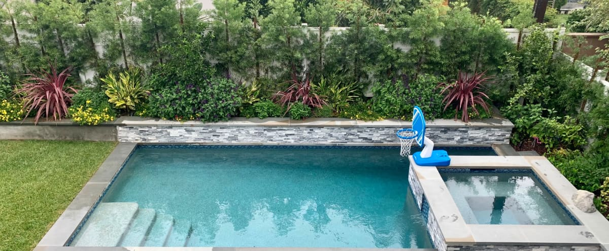 Beautiful Backyard Oasis with Pool and Jacuzzi in Los Angeles Hero Image in Mar Vista, Los Angeles, CA