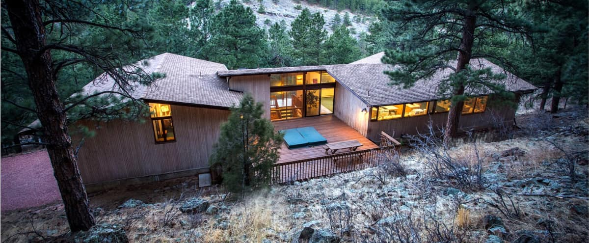 Exceptional and Spacious Private Mtn Retreat with Wall of Windows in Boulder Hero Image in undefined, Boulder, CO