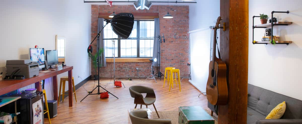 Versatile, Naturally-Lit Photo and Video Studio in Bushwick in Brooklyn Hero Image in East Williamsburg, Brooklyn, NY