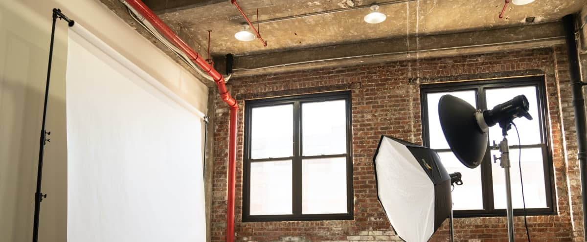 Spacious Natural Light Studio with Profoto, Aputure and Astera Gear Included in Brooklyn Hero Image in East Williamsburg, Brooklyn, NY