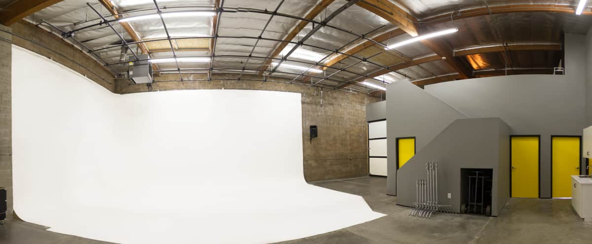 NoHo Studio Space with Large White Cyc, Lighting Grid, Client Loft Area, and Amenities in North Hollywood Hero Image in Valley Glen, North Hollywood, CA
