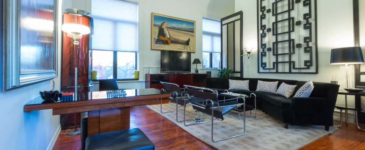 Bright 6,500 sq ft  art deco and mid century modern church- Boerum Hill in Brooklyn Hero Image in Boerum Hill, Brooklyn, NY