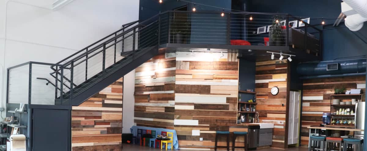 Mix-Use Creative Production Space with Wood Wall, Water Wall and Natural Light in Atlanta Hero Image in Woodland Hills, Atlanta, GA